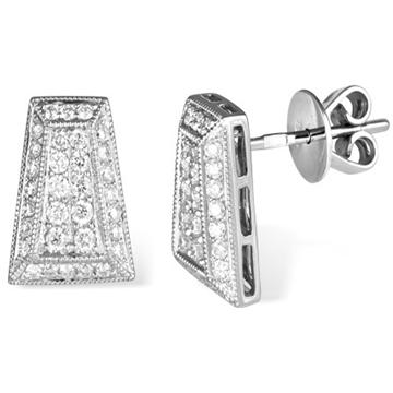Пусеты  с бриллиантами из белого золота AER-3255 от EVORA