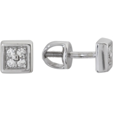 серьги c бриллиантами из белого золота 23038066