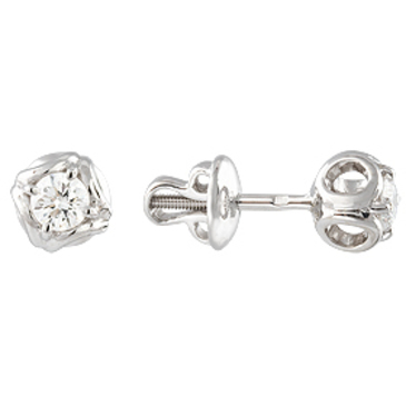 серьги c бриллиантами из белого золота 23037633