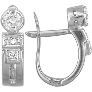серьги c бриллиантами из белого золота 23031444