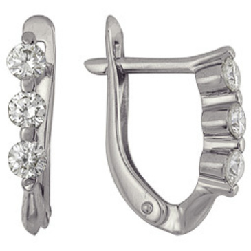 серьги c бриллиантами из белого золота 23034507
