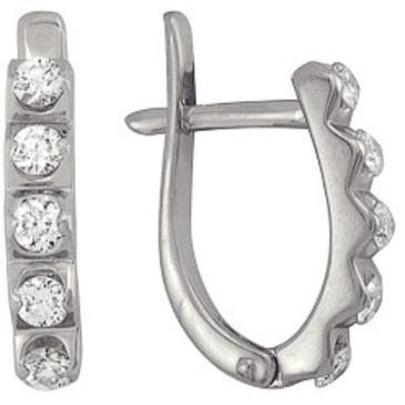 серьги c бриллиантами из белого золота 23036275
