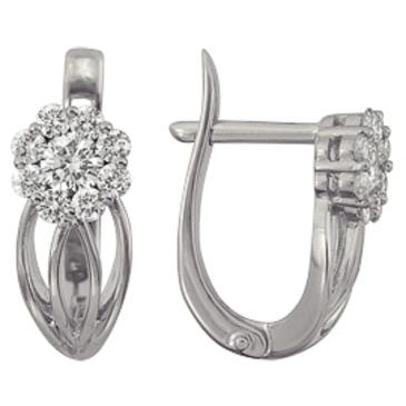 серьги c бриллиантами из белого золота 23038145