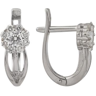 серьги c бриллиантами из белого золота 23038146