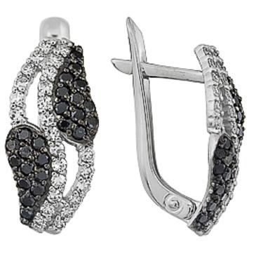 серьги c бриллиантами из белого золота 23038241.17-1