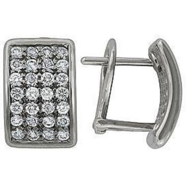 серьги c бриллиантами из белого золота 28031706