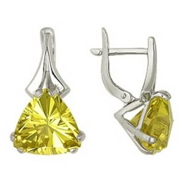 серьги c цитринами из белого золота 1096110257