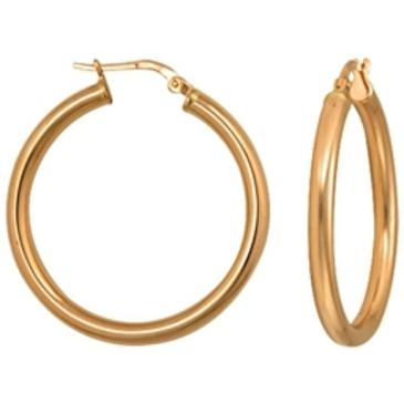 серьги  диаметр 30 мм из красного золота 1400017097