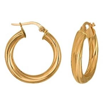 серьги диаметр 20 мм из красного золота 1400017084