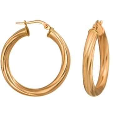 серьги диаметр 25 мм из красного золота 1400017098