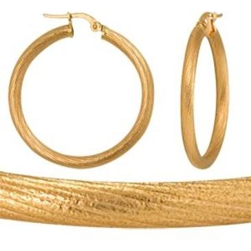 серьги диаметр 30 мм из красного золота 1400017092