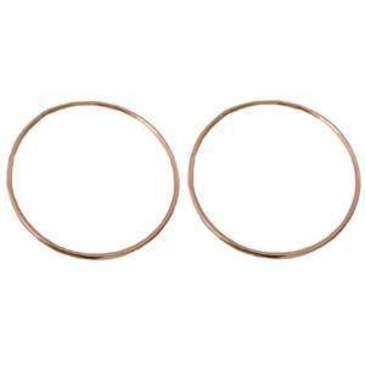 серьги диаметр 35 мм из красного золота 14010430/11
