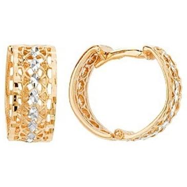 серьги из красного золота 21015493-2