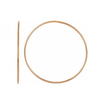 Серьги конго диаметр 43 мм из красного золота 100569