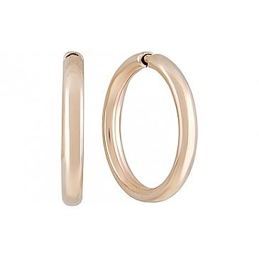 Серьги конго из красного золота 101159 от EVORA