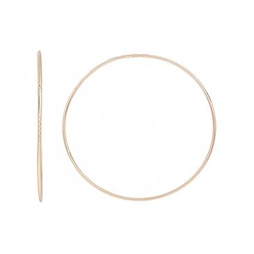 Серьги конго с алмазной гранью из красного золота 116996
