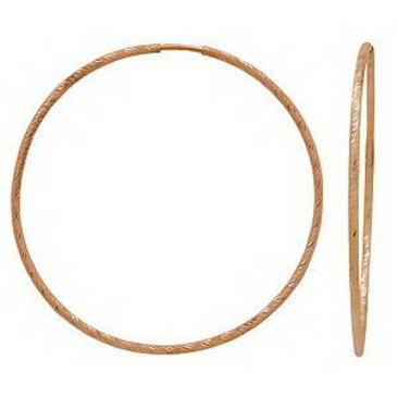 серьги конго с гравировкой диаметр 45 мм из красного золота 1400817026