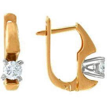 серьги c бриллиантами из красного золота 22032849-1