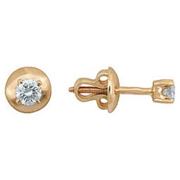 серьги c бриллиантами из красного золота 21032791