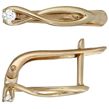 серьги c бриллиантами из красного золота 21038591