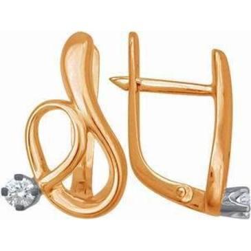 серьги c бриллиантами из красного золота 22031409