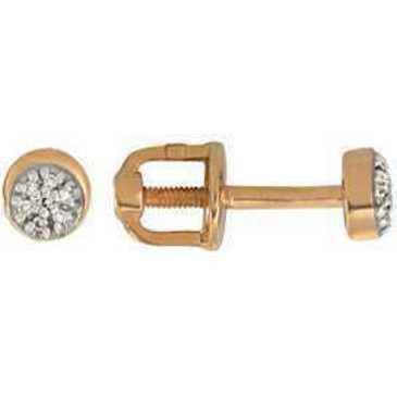 серьги c бриллиантами из красного золота 21038290