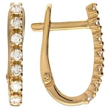 серьги c бриллиантами из красного золота 21034263