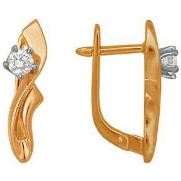 серьги c бриллиантами из красного золота 22031089