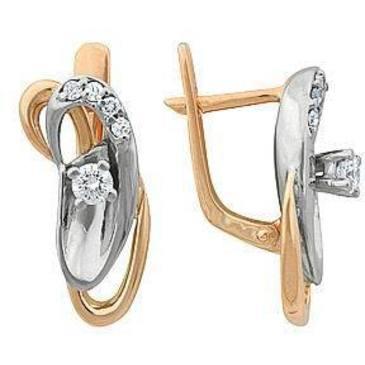 серьги c бриллиантами из красного золота 22031863