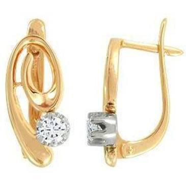 серьги c бриллиантами из красного золота 22032871