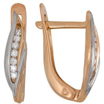 серьги c бриллиантами из красного золота 21034610
