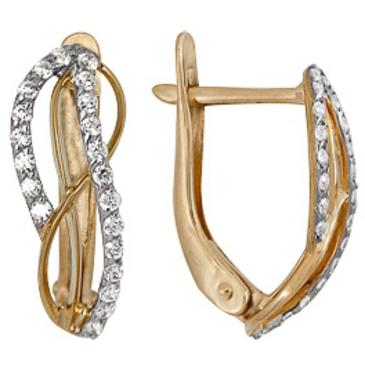 серьги c бриллиантами из красного золота 1000212306