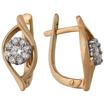 серьги c бриллиантами из красного золота 22038635
