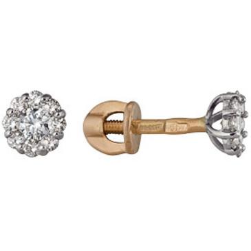 серьги c бриллиантами из красного золота 22038771
