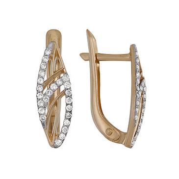 серьги c бриллиантами из красного золота 1000212292