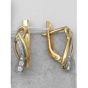 серьги c бриллиантами из красного золота 1006210062