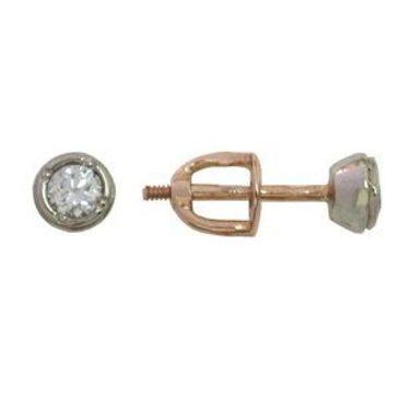 серьги c бриллиантами из красного золота 10012638/11