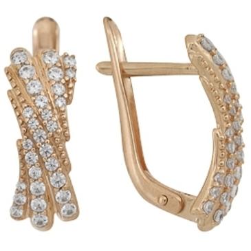 серьги c бриллиантами из красного золота 1000011625