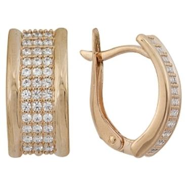 серьги c бриллиантами из красного золота 1000011649