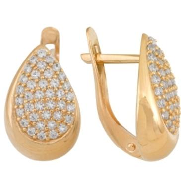 серьги c бриллиантами из красного золота 1000011650