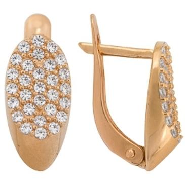 серьги c бриллиантами из красного золота 1000011651