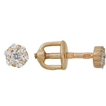 серьги c бриллиантами из красного золота 1000015654