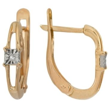 серьги c бриллиантами из красного золота 1007111711-1