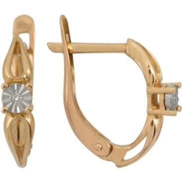 серьги c бриллиантами из красного золота 1007111715