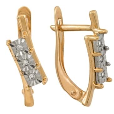 серьги c бриллиантами из красного золота 1007111718