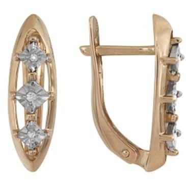серьги c бриллиантами из красного золота 1007111720