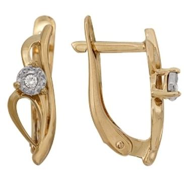 серьги c бриллиантами из красного золота 1007112030