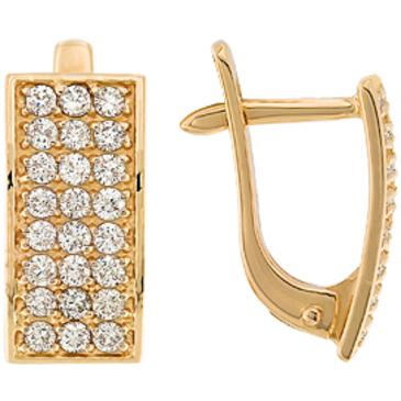 серьги c бриллиантами из красного золота 21035200