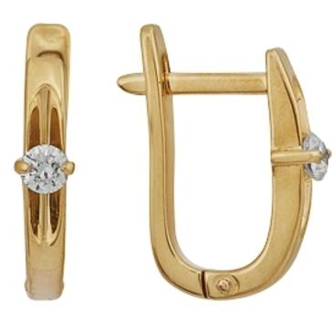 серьги c бриллиантами из красного золота 21038278