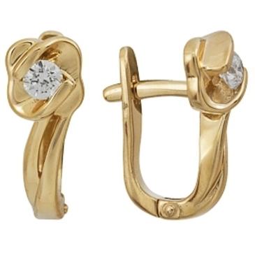 серьги c бриллиантами из красного золота 21038285